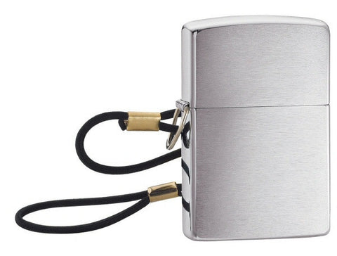 Zippo Chrome Lighter with Lanyard