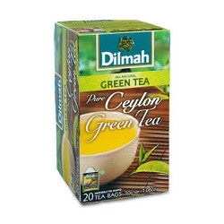 Dilmah Pure Ceylon Green Tea, 20 Count Tea Bags