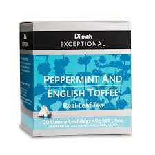 Dilmah Exceptional Peppermint And English Toffee Tea, 20 Count Tea Bags