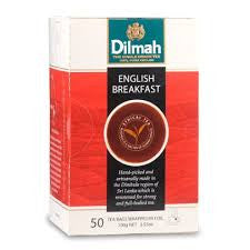 Dilmah English Breakfast, 50 Count Tea Bags