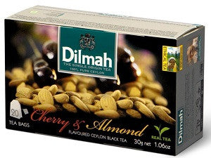 Dilmah Cherry And Almond Flavoured Ceylon Black Tea, 20 Count Tea Bags