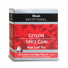 Dilmah Exceptional Ceylon Spice Chai, 20 Count Tea Bags
