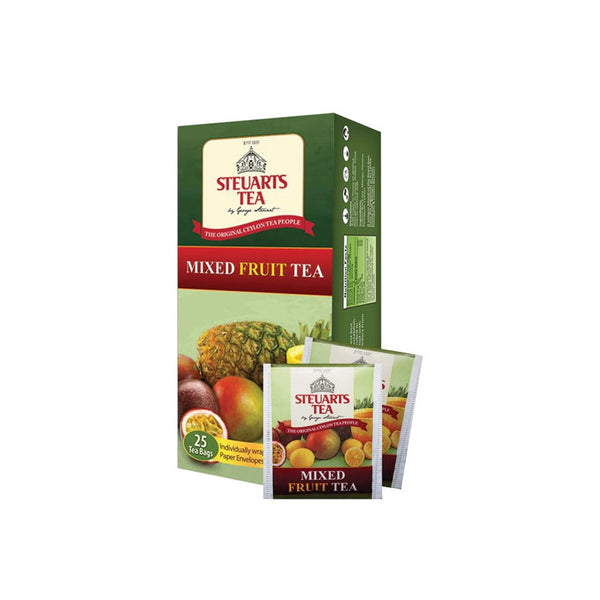Steuarts Mixed Fruit Flavoured Ceylon Black Tea, 25 Count Tea Bags