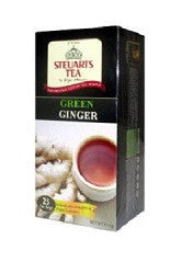 Steuarts Green Ginger Tea , 25 Count Tea Bags