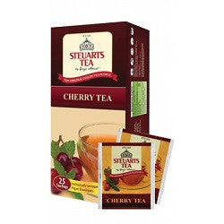 Steuarts Cherry Flavoured Ceylon Black Tea, 25 Count Tea Bags
