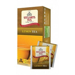Steuarts Lemon Flavoured Ceylon Black Tea, 25 Count Tea Bags