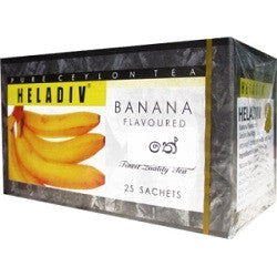 Heladiv Banana Flavoured Ceylon Black Tea, 25 Count Tea Bags