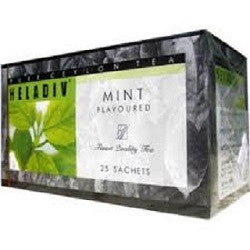 Heladiv Mint Flavoured Ceylon Black Tea, 25 Count Tea Bags