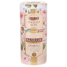 Basilur English Rose Tea Dimbula Tin Caddies