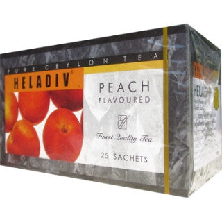 Heladiv Peach Flavoured Ceylon Black Tea, 25 Count Tea Bags