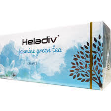 Heladiv Jasmine Green Tea, 25 Count Tea Bags