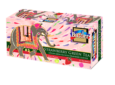 Battler Strawberry Flavoured Ceylon Green Tea, 25 Count Tea Bags