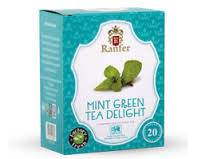 Ranfer Mint Green Tea Delight , 20 Count Tea Bags