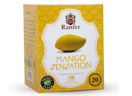 Ranfer Mango Sensation Flavoured Ceylon Black Tea, 20 Count Tea Bags