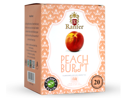 Ranfer Peach Burst Flavoured Ceylon Black Tea, 20 Count Tea Bags
