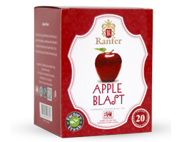Ranfer Apple Blast Flavoured Ceylon Black Tea, 20 Count Tea Bags