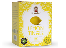 Ranfer Lemon Tingle Flavoured Ceylon Black Tea, 20 Count Tea Bags