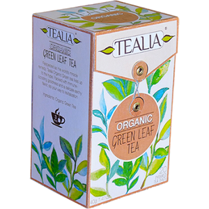 Tealia Organic Green Leaf Tea, 20 Count Tea Bags