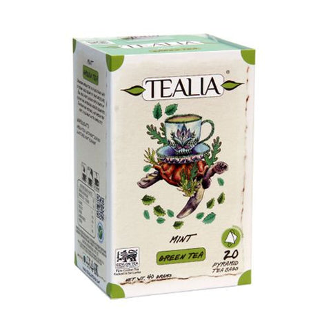 Tealia Mint Green Tea, 20 Count Tea Bags