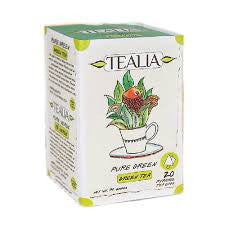 Tealia Green Tea, 20 Count Tea Bags