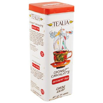 Tealia Coconut Chocolate Ceylon Black Tea, Loose Tea 100g
