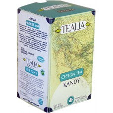 Tealia Kandy Ceylon Tea, 20 Count Tea Bags