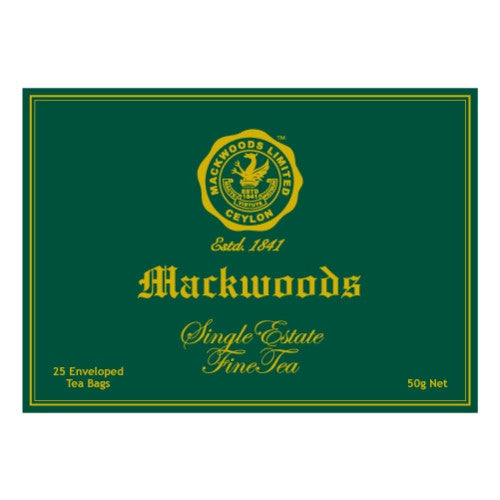 Mackwoods Single Estate Ceylon Tea, 25 Count Tea Bags