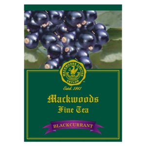 Mackwoods Blackcurrant Flavoured Ceylon Black Tea, 25 Count Tea Bags