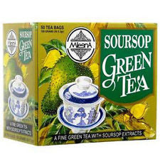 Mlesna Soursop Green Tea, 50 Count Tea Bags