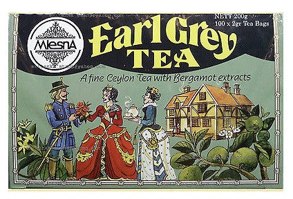 Mlesna Earl Grey Tea, 100 Count Tea Bags