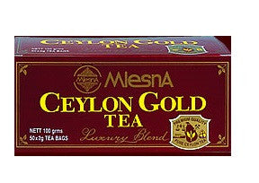 Mlesna Ceylon Gold Tea, 50 Count Tea Bags