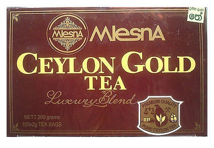 Mlesna Ceylon Gold Tea, 100 Count Tea Bags