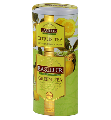 Basilur Citrus Green Tea Tin Caddies