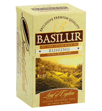 Basilur Leaf of Ceylon Ruhunu Tea, 20 Count Tea Bags