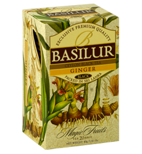 Basilur Magic Fruits Ginger Flavoured Ceylon Tea, 20 Count Tea Bags