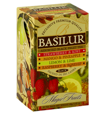 Basilur Magic Fruits Assorted Flavoured Ceylon Tea, 20 Count Tea Bags