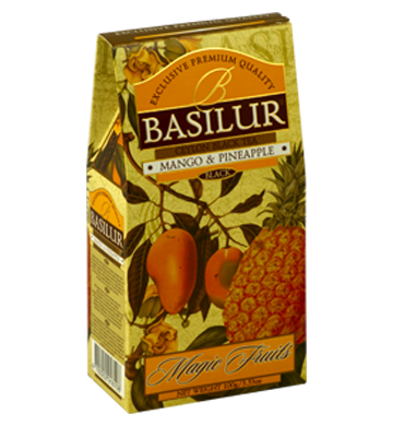 Basilur Magic Fruits Mango and Pineapple Flavoured Ceylon Tea, Loose Tea 100g