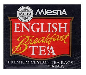 Mlesna English Breakfast Ceylon Tea, 100 Count Tea Bags