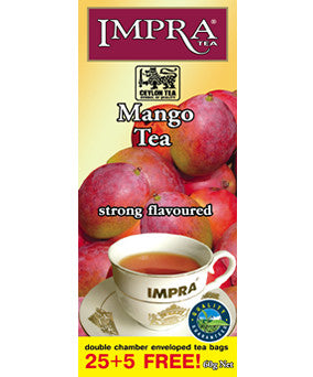 Impra Mango Flavoured Ceylon Black Tea, 25 Count Tea Bags