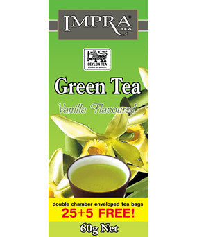 Impra Vanilla Flavoured Green Tea, 25 Count Tea Bags