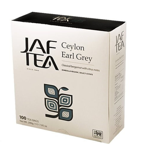 Jaf Ceylon Earl Grey Tea, 100 Count Tea Bags