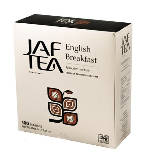 Jaf Ceylon English Breakfast Tea, 100 Count Tea Bags