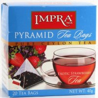 Impra Exotic Strawberry Tea, 20 Count Tea Bags