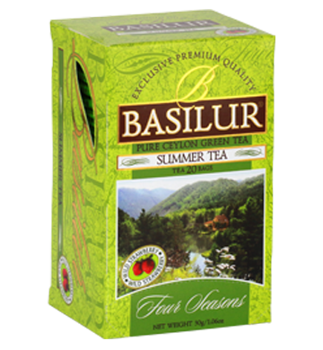 Basilur Four Seasons Summer Tea, 20 Count Tea Bags