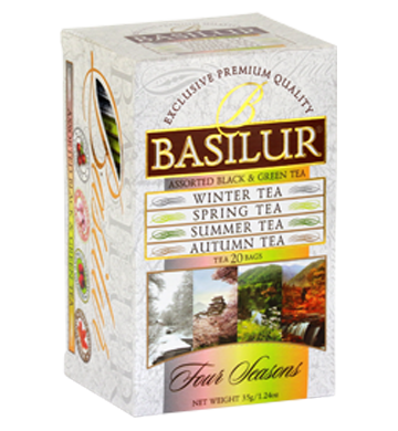 Basilur Four Seasons Assorted Tea, 20 Count Tea Bags