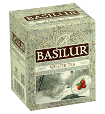 Basilur Four Seasons Winter Tea, 10 Count Tea Bags
