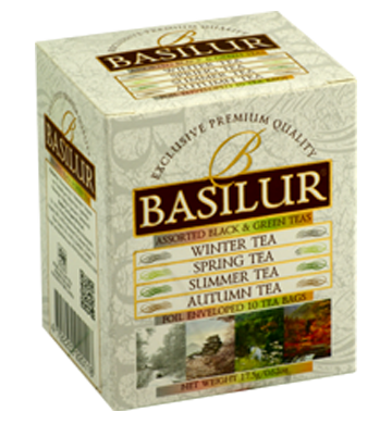 Basilur Four Seasons Assorted Tea, 10 Count Tea Bags