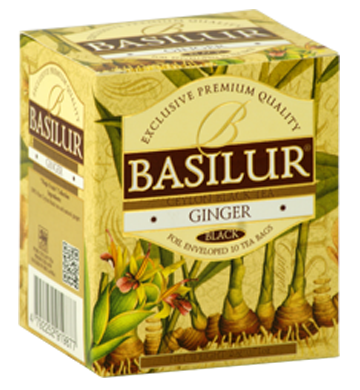 Basilur Magic Fruits Ginger Flavoured Ceylon Tea, 10 Count Tea Bags