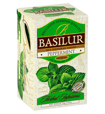 Basilur Herbal Infusions Peppermint, 20 Count Tea Bags