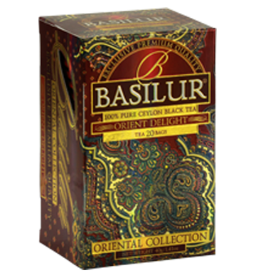 Basilur Oriental Delight Tea, 20 Count Tea Bags